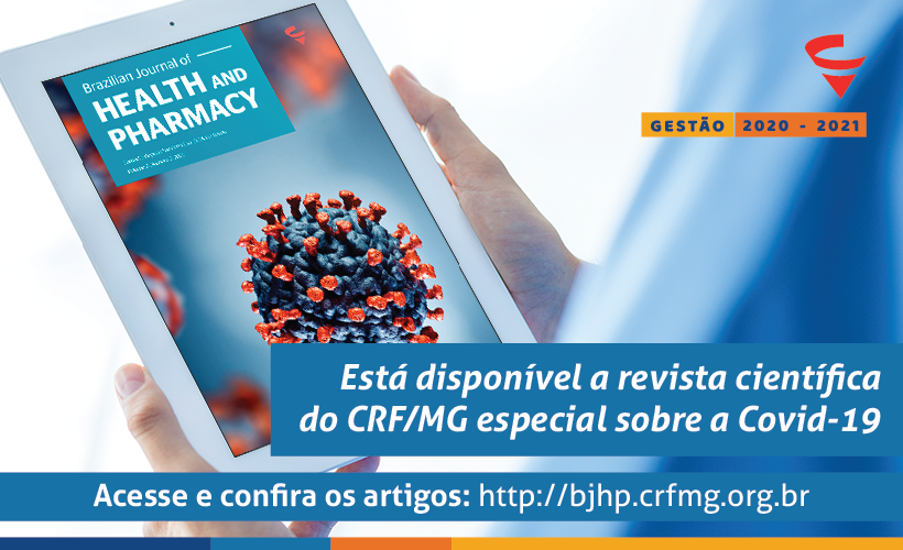 CRF/MG lança edição especial da revista científica Brazilian Journal of Health and Pharmacy sobre a Covid-19